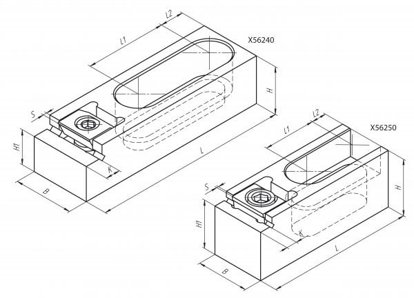 X56250 - Pitbull Kombi-Spannklemme M16