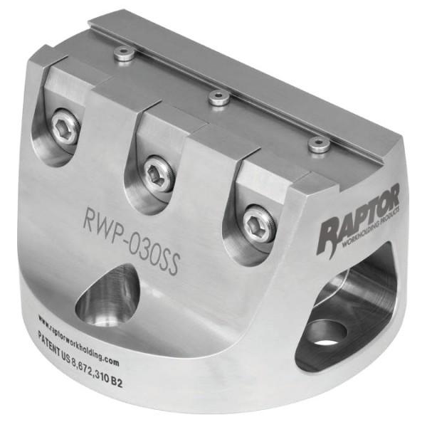 """Raptor 0,75"""" Spannvorrichtung, H=76,2mm, rostfrei"""
