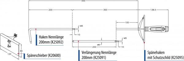 K20000 - Spänehaken-Set mit Späneschieber