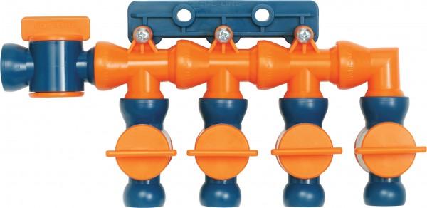 L32098 - 4-fach Verteiler mit Absperrhähnen